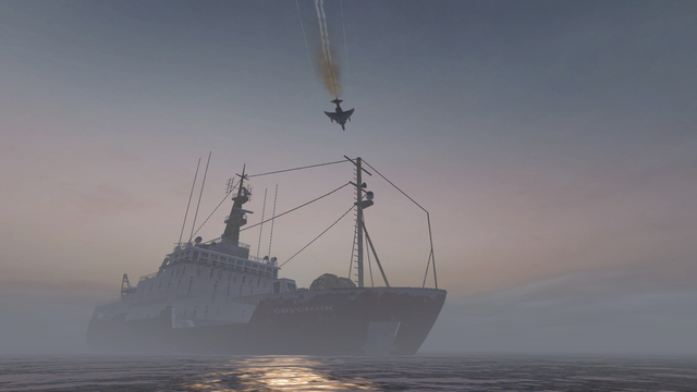AdvancedRookie Discovery napalm strike plane flying over boat