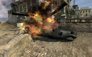 Crashed Lynx Smack Town MW3