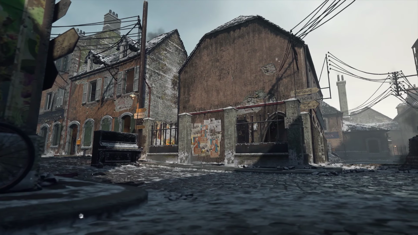 Image Winter Carentan View 2 Wwii Png Call Of Duty