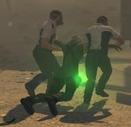 Anderson being taken to ambulance Cordis Die BOII