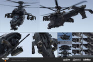 Attack Helicopter Concept Art BO4