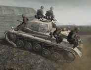 German soldiers on Panzer II CoD2