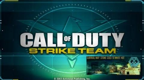 Call of Duty® Strike Team - Walkthrough - Survival Map Stone Cold to white Hit
