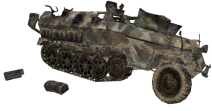 Sd. Kfz. 251 model destroyed WaW