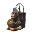 Małpka z talerzami