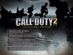 CoD2 Special Edition Bonus DVD - main menu