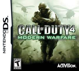Call of Duty 4 Modern Warfare Nintendo DS okladka