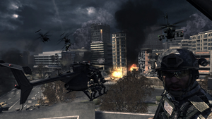 Helicopter approach Scorched Earth MW3