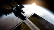 International Space Station close-up Second Sun MW2