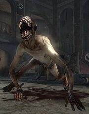 Kriechender Zombie.