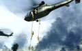 Marines rappeling from UH-60 Charlie Don't Surf COD4.png
