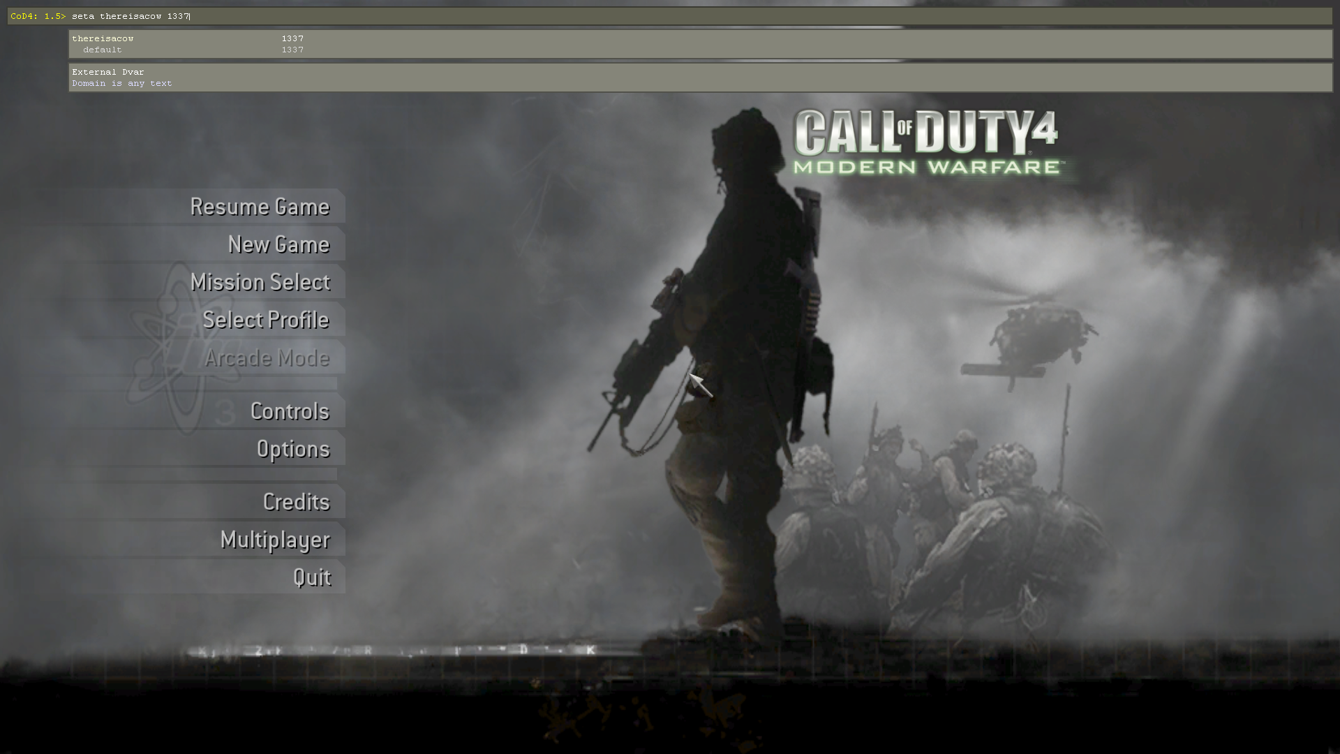 call of duty modern warfare 4 multiplayer key code mac