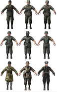 German character models WaW