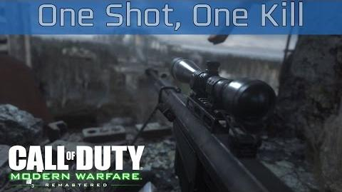 Call of Duty 4 Modern Warfare Remastered - One Shot, One Kill Walkthrough HD 1080P 60FPS