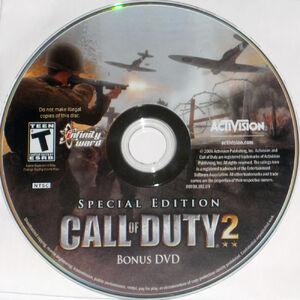 CoD2 Special Edition Bonus DVD disc