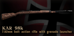 Kar98k grenade launcher menu icon CoD3