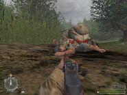 Раненый Муди в миссии Брекур