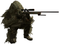 Sniper holding M40A3 3rd Person