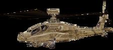AH-64 Apache cut model desert CoD4