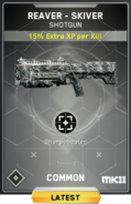 Reaver Skiver MK2 Supply Drop Card IW