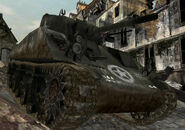 M4 Sherman traversing rubble CoD3