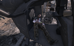 Wounded Soap in Littlebird MW3