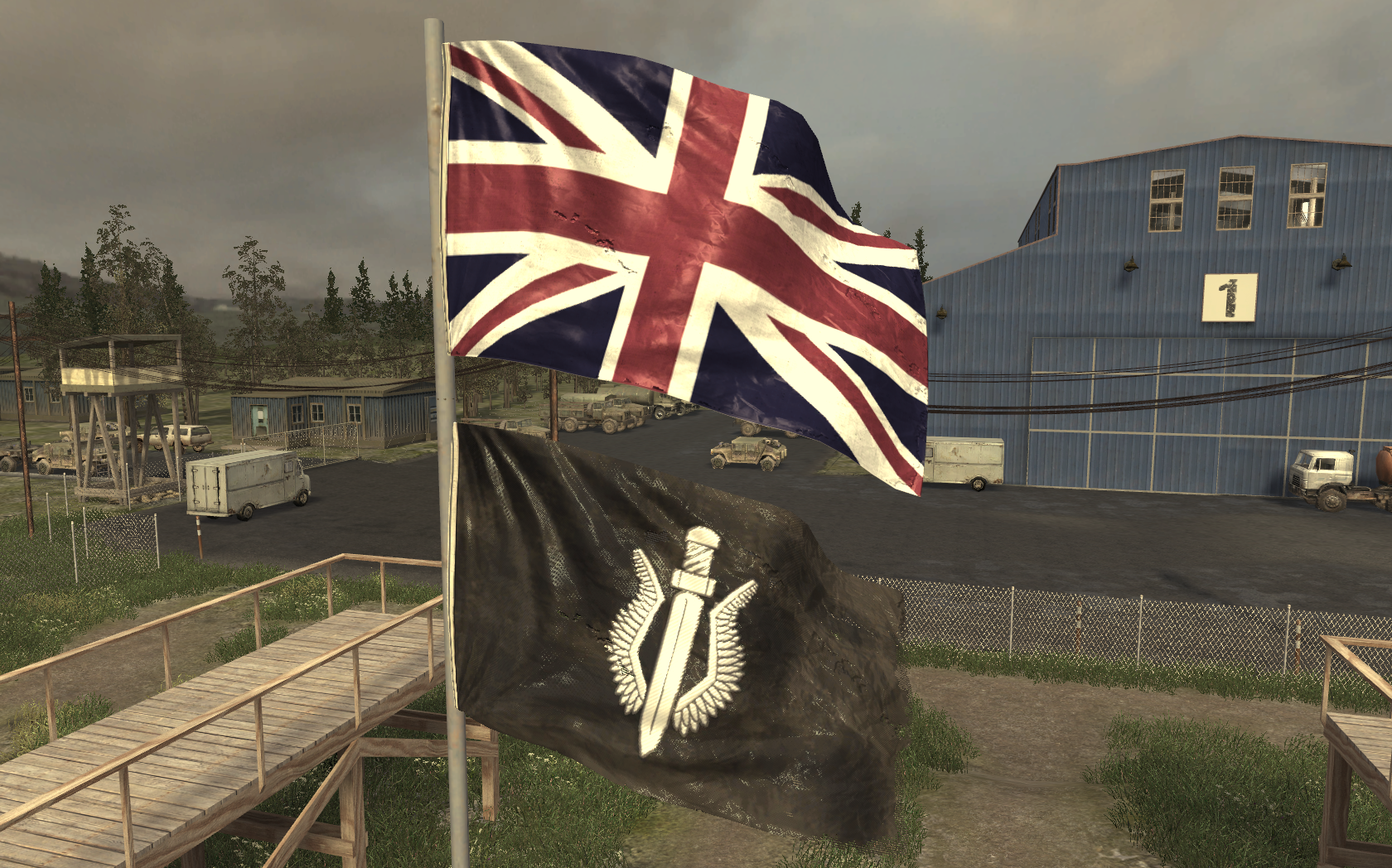 image uk and sas flag f n g cod4 png call of duty wiki
