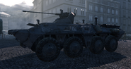 BTR-80 parked outside of the Hotel Lustig Blood Brothers MW2