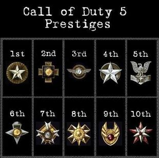 Call of duty 5 prestige