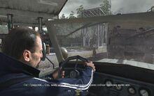 Виктор за рулём
