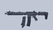 M4A1 Unused Attachments Flat Render CODM