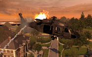UH-60 Blackhawk going down Exodus MW2