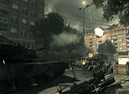 Abrams firing shell Goalpost MW3