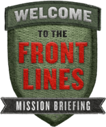 Front Lines Badge Promo WWII