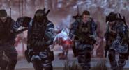 Soldiers Running Extinction CoDG
