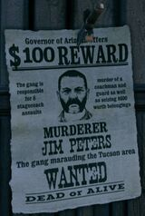 Wanted Dead or Alive Jim Peters