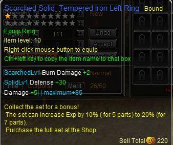 Left ring details