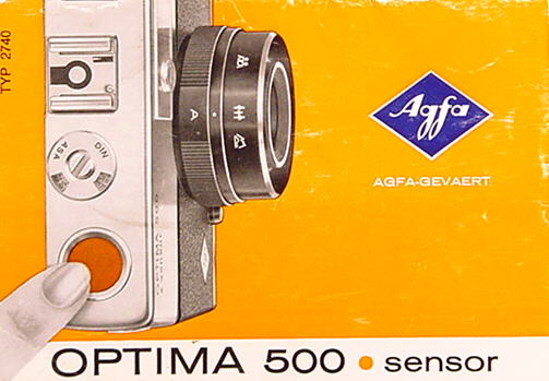 manual agfa optima 500 sensor