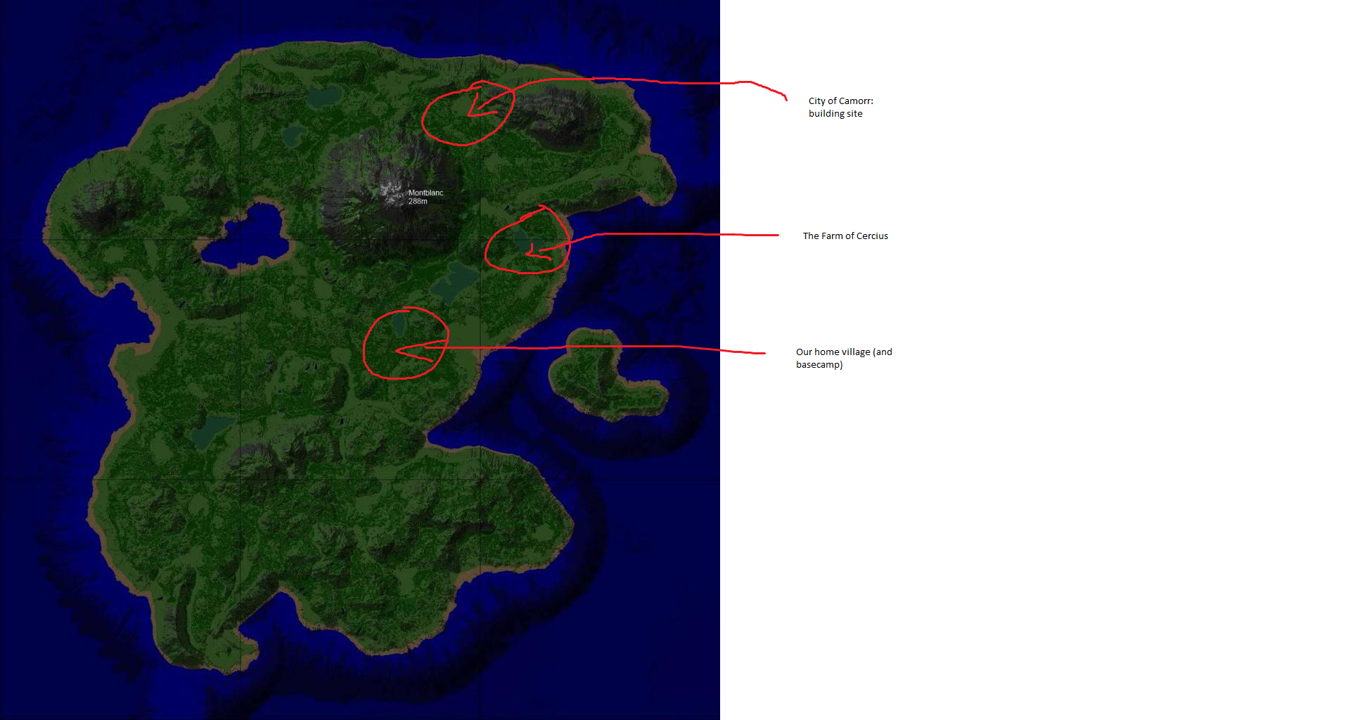 Map of the Duchy of Camorr server