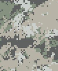 4 color Mountain Digital Pattern