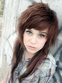 Brown-emo-hair