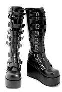 Demonia-black-9-buckle-platform-boots-profile