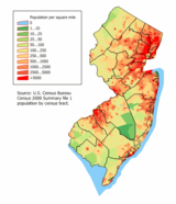 New Jersey Population Map