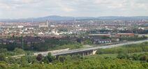 Fuerth Nuremberg City Langwasser from Alte Veste f w