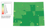 Wyoming population map