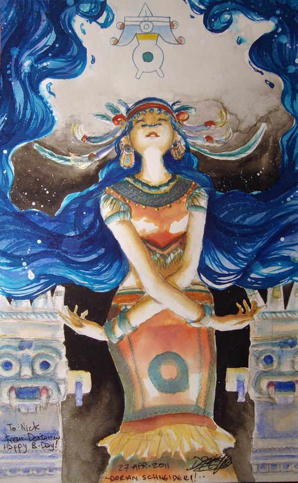 Chalchiuhtlicue | Camp Aztec Roleplaying Wiki | FANDOM ...