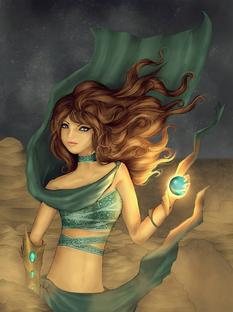 Sand goddess