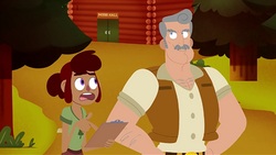Gwen and Mr. Campbell (Escape from Camp Campbell)