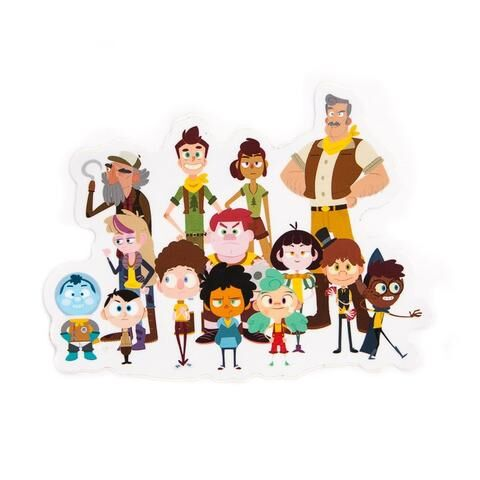 Nurf from the Camp Camp Characters Vinyl Decal
