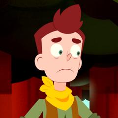 A nervous David.